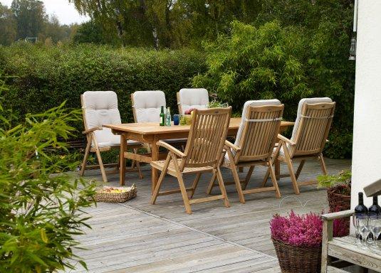 VERONICA - Krzesło z Regulowanym Oparciem z Drewna Teak  Dekkor